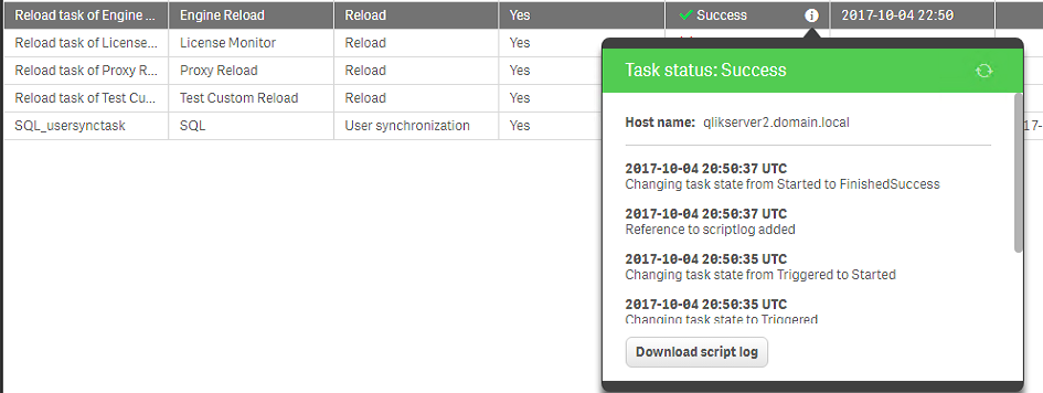How to find the Script (Reload) logs in Qlik Sense Enterprise